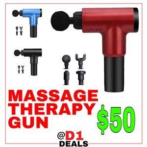 Massage Gun w/ Attachments (Therapy, Deep Tissue)